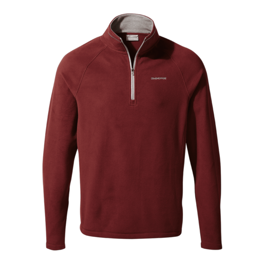 Craghoppers Men's Corey V Half Zip – Loganberry