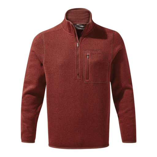 Craghoppers Men's Etna Half Zip – Garnet Red