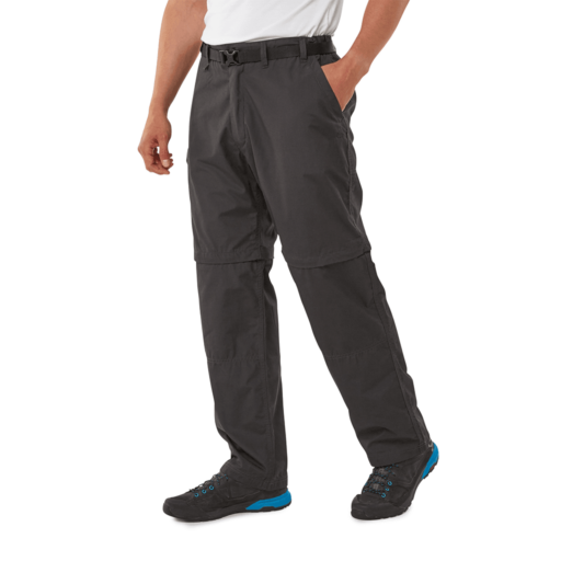 Craghoppers Men's Kiwi Convertible Trousers – Regular – Black Pepper