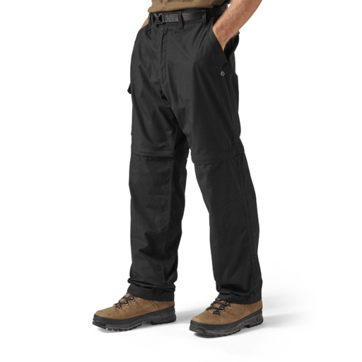 Craghoppers Men's Kiwi Convertible Trousers – Regular – Black
