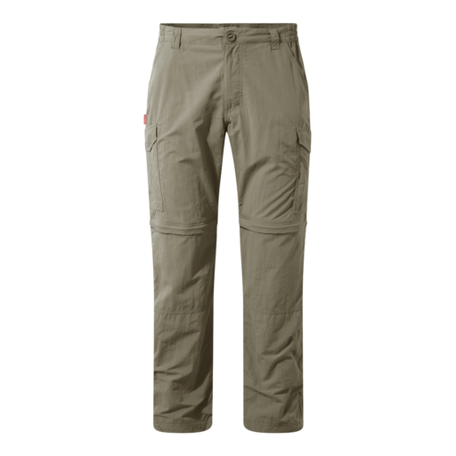 Craghoppers Men's NosiLife Convertible II Trousers – Regular – Pebble