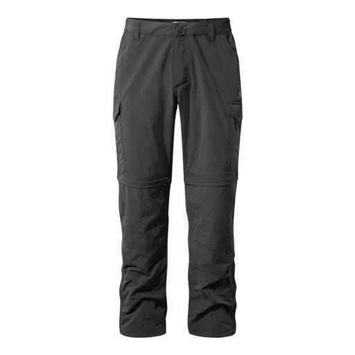 Craghoppers Men's NosiLife Convertible II Trousers – Long – Black Pepper