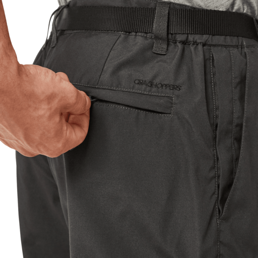 Craghoppers Men's Kiwi Boulder Trouser – Short – Black Pepper