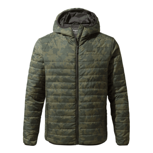 Craghoppers Men's Compresslite III Hooded Jacket – Camo Print