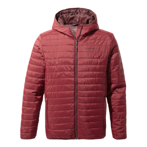 Craghoppers Men's Compresslite III Hooded Jacket – Loganberry