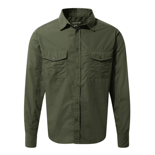 Craghoppers Men's Kiwi Long Sleeved Shirt – Cedar