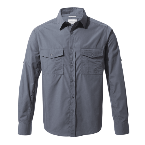 Craghoppers Men's Kiwi Long Sleeved Shirt – Ombre Blue