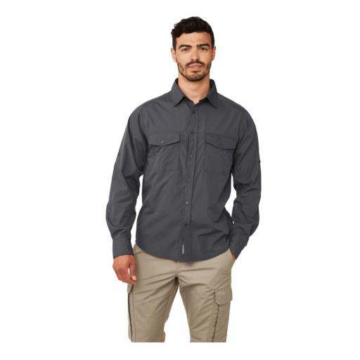Craghoppers Men's Kiwi Long Sleeved Shirt – Ombre Blue