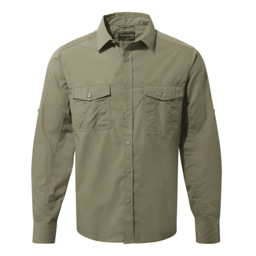 Craghoppers Men's Kiwi Long Sleeved Shirt – Pebble