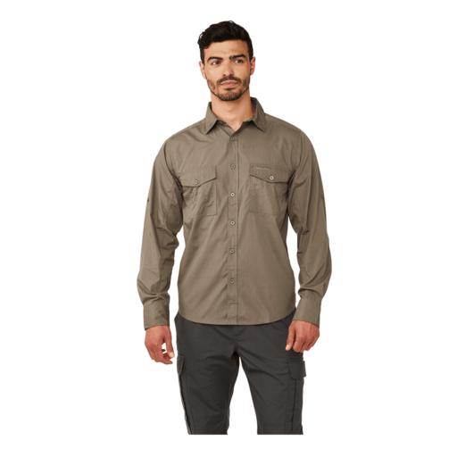 Craghoppers Men's Kiwi Long Sleeved Shirt – Pebble