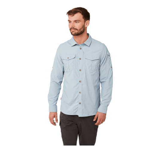 Craghoppers Men's NosiLife Adventure II Long Sleeved Shirt – Fogle Blue