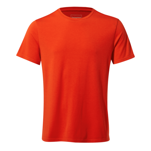 Craghoppers Men's First Layer Short Sleeved T-Shirt – Aster Red