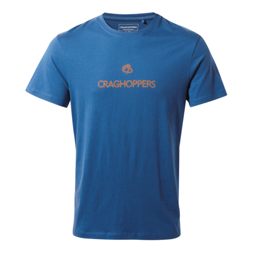 Craghoppers Men's Calvino Short Sleeved T-Shirt – Deep Blue Etch Brand Carrier