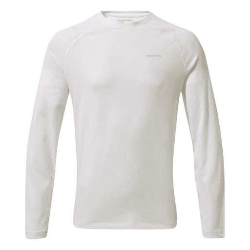 Craghoppers Men's NosiLife Bayame II Long Sleeved T-Shirt – Optic White