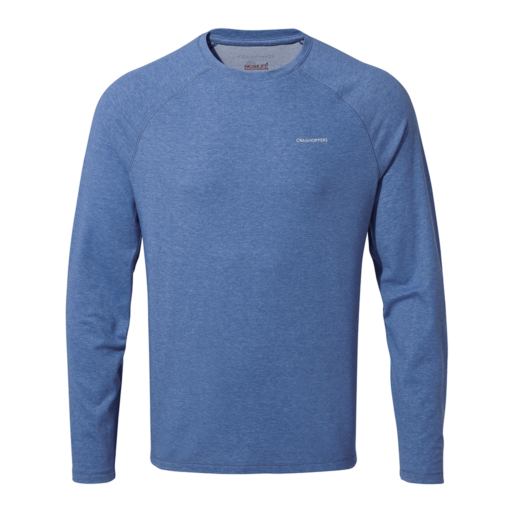 Craghoppers Men's NosiLife Bayame II Long Sleeved T-Shirt – Delft Blue Marl