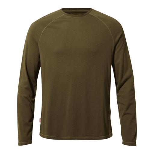 Craghoppers Men's NosiLife Bayame II Long Sleeved T-Shirt – Dark Moss