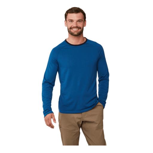 Craghoppers Men's First Layer Long Sleeved T-Shirt – Deep Blue