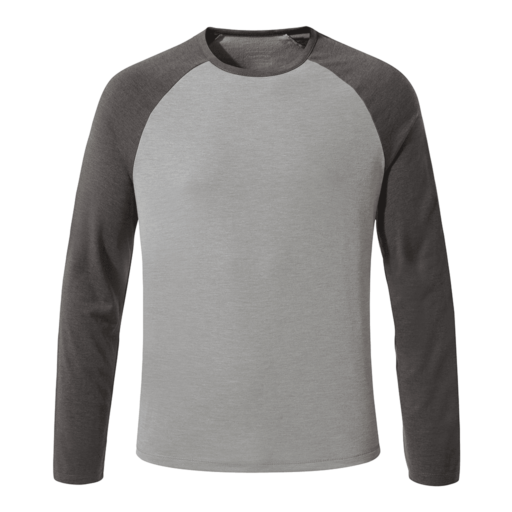 Craghoppers Men's First Layer Long Sleeved T-Shirt – Quarry Grey Marl / Black Pepper Marl