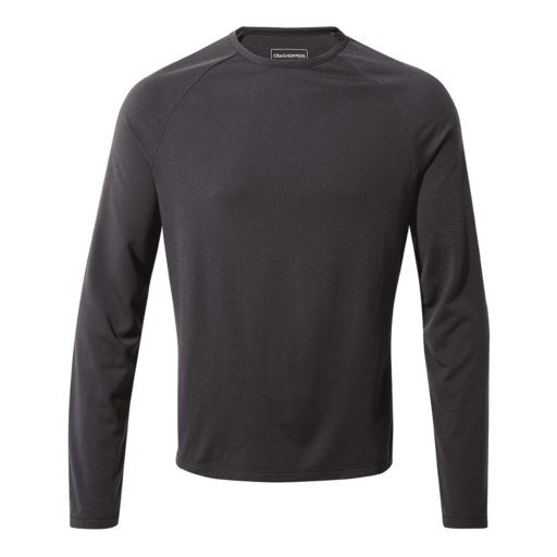 Craghoppers Men's First Layer Long Sleeved T-Shirt – Black Pepper