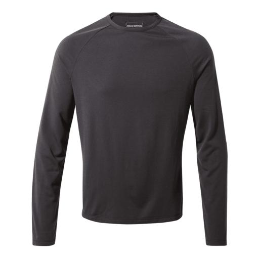 Craghoppers Men's First Layer Long Sleeved T-Shirt – Black Pepper