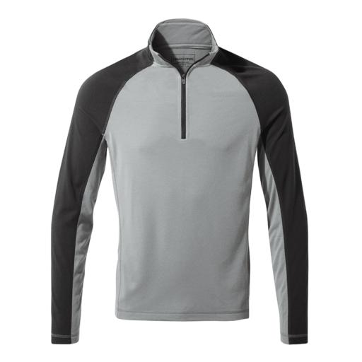 Craghoppers Men's First Layer Half Zip T-Shirt – Cloud Grey
