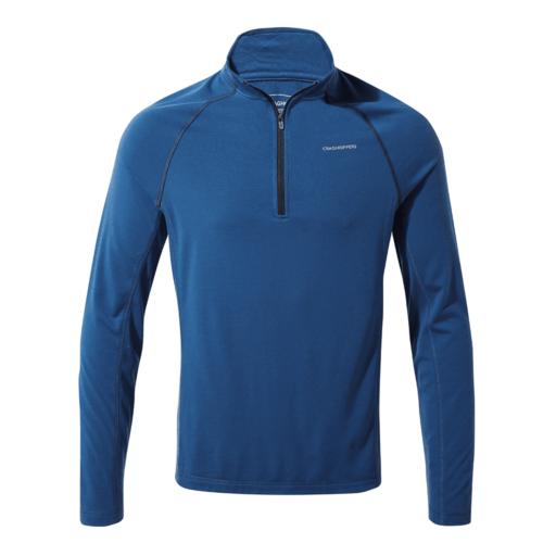 Craghoppers Men's First Layer Half Zip T-Shirt – Deep Blue
