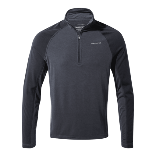 Craghoppers Men's First Layer Half Zip T-Shirt – Steel Blue