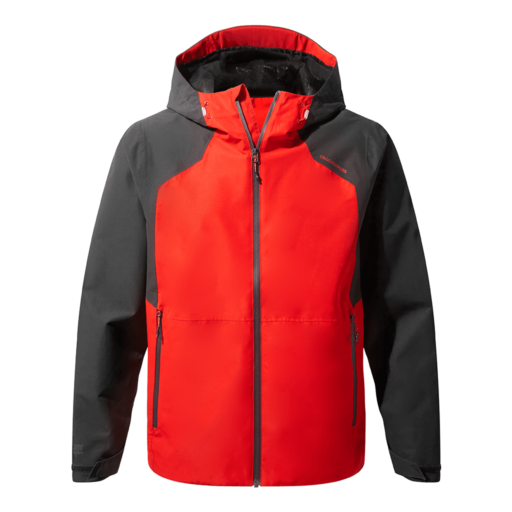 Craghoppers Men's Balla Jacket – Aster Red / Black Pepper