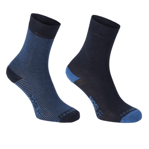Craghoppers Women's NosiLife Twin Pack Socks – Dark Navy / Soft Denim – Twin Pack