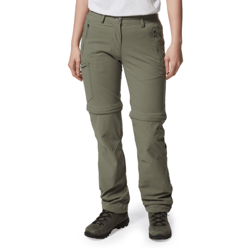 Craghoppers Women's NosiLife Pro II Convertible Trouser – Long – Soft Moss