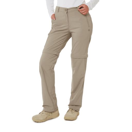 Craghoppers Women's NosiLife Pro II Convertible Trouser – Long – Mushroom