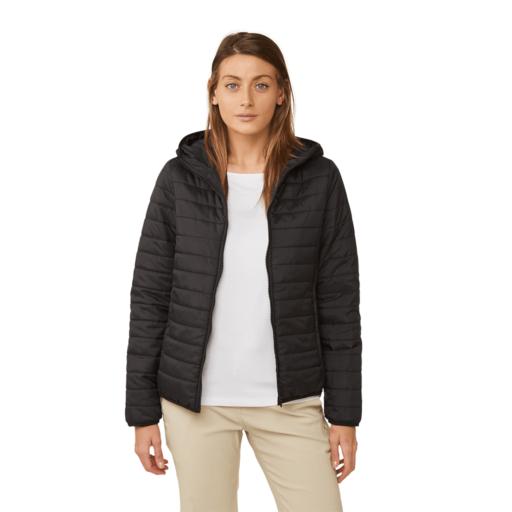 Craghoppers Women's Compresslite III Hooded Jacket – Black / Black