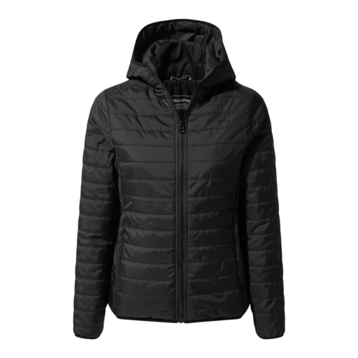 Craghoppers Women's Compresslite III Hooded Jacket – Black / Black