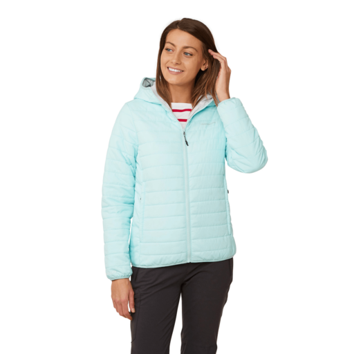 Craghoppers Women's Compresslite III Hooded Jacket – Frost Blue