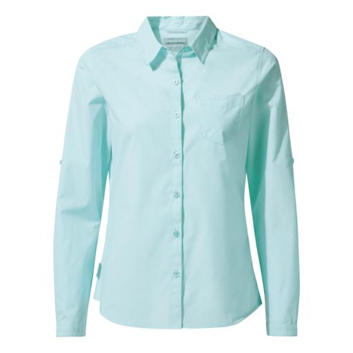 Craghoppers Women's Kiwi Long Sleeved Shirt – Capri Blue