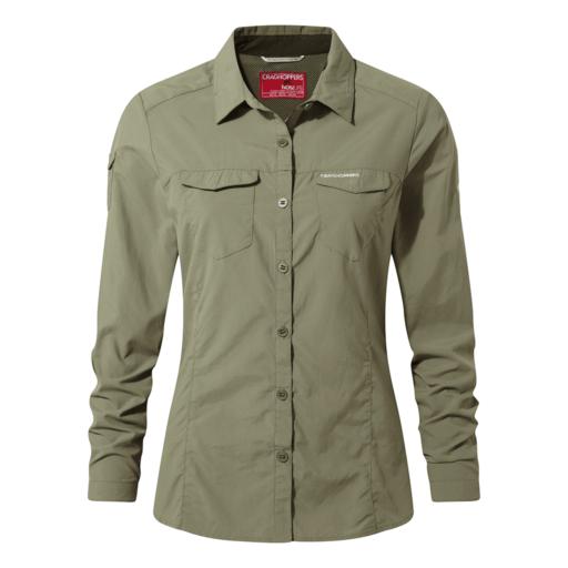 Craghoppers Women's NosiLife Adventure II Long Sleeved Shirt – Soft Moss