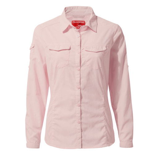 Craghoppers Women's NosiLife Adventure II Long Sleeved Shirt – Seashell Pink