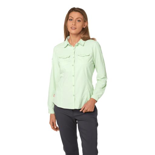 Craghoppers Women's NosiLife Adventure II Long Sleeved Shirt – Soft Pistachio