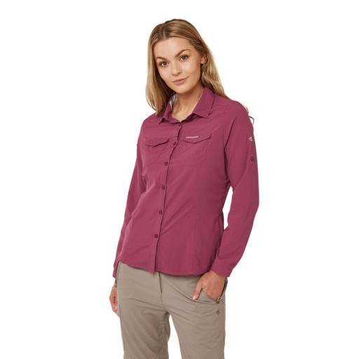 Craghoppers Women's NosiLife Adventure II Long Sleeved Shirt – Amalfi Rose
