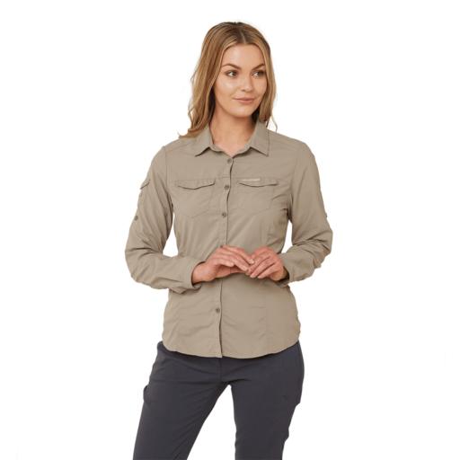 Craghoppers Women's NosiLife Adventure II Long Sleeved Shirt – Mushroom