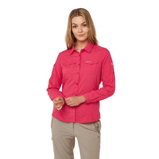 Craghoppers Women's NosiLife Adventure II Long Sleeved Shirt – Winter Rose