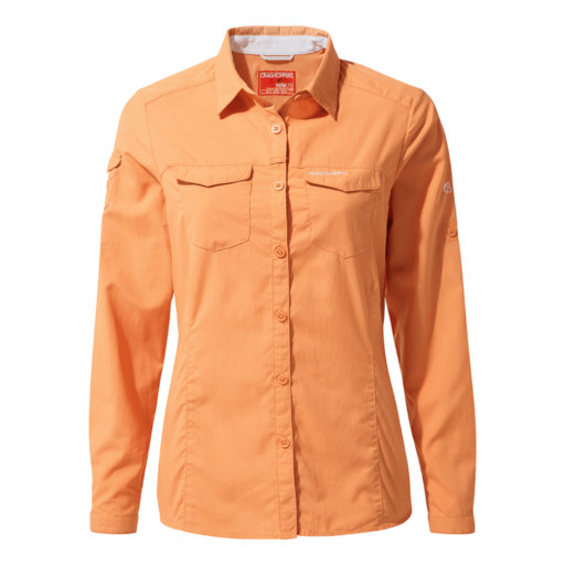 Craghoppers Women's NosiLife Adventure II Long Sleeved Shirt – Soft Apricot