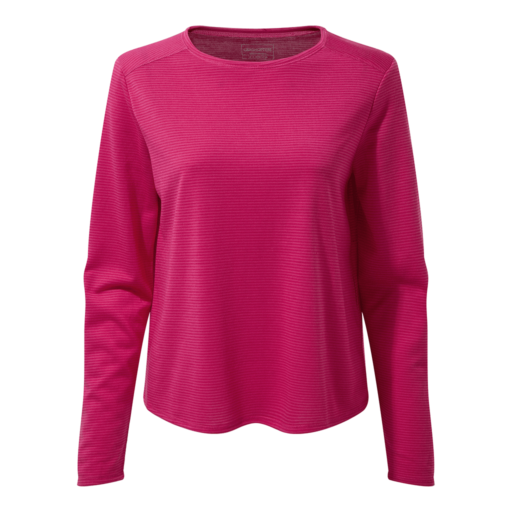 Craghoppers Women's First Layer Long Sleeved T-Shirt – Winter Rose Stripe