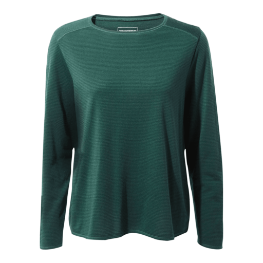 Craghoppers Women's First Layer Long Sleeved T-Shirt – Mountain Green Stripe
