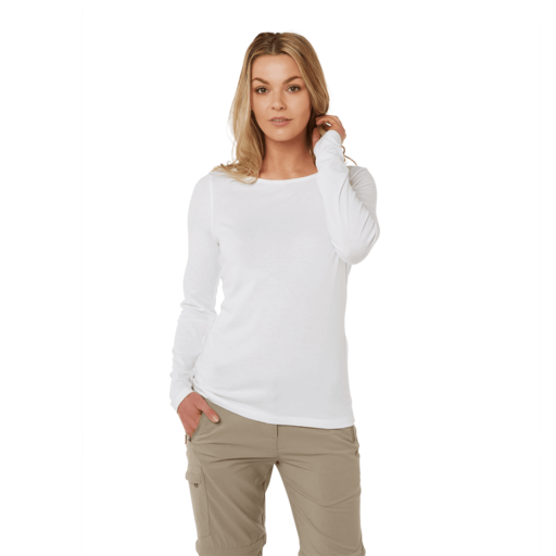 Craghoppers Women's NosiLife Erin II Long Sleeved Top – Optic White