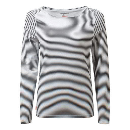 Craghoppers Women's NosiLife Erin II Long Sleeved Top – Blue Navy Stripe