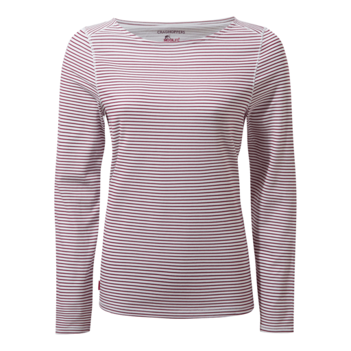 Craghoppers Women's NosiLife Erin II Long Sleeved Top – Amalfi Rose Stripe