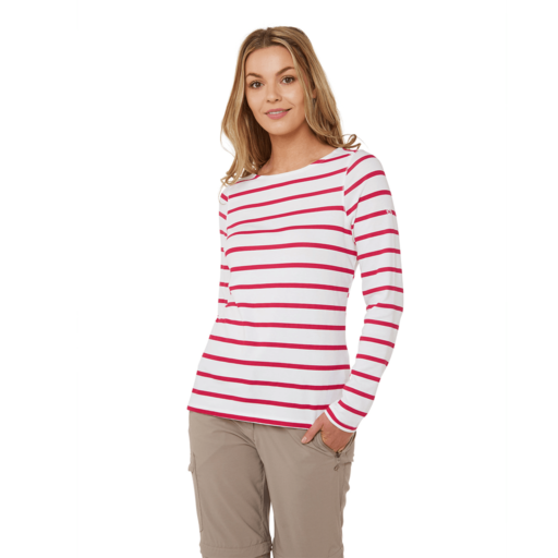 Craghoppers Women's NosiLife Erin II Long Sleeved Top – Winter Rose Stripe