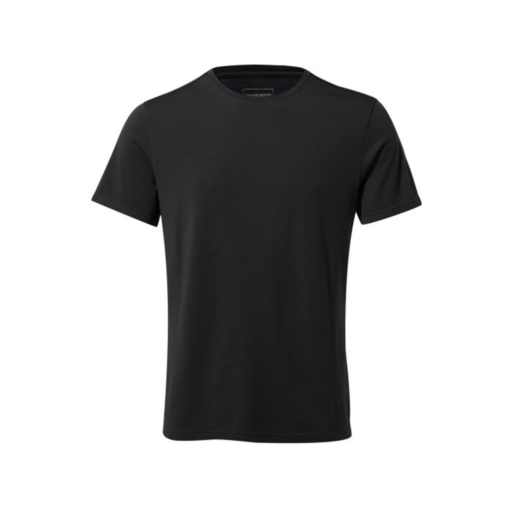 Craghoppers Men's First Layer Short Sleeved T-Shirt – Black Pepper
