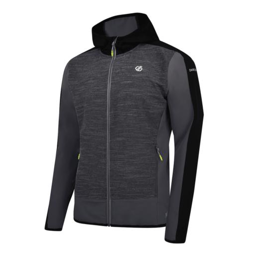 Dare 2b Men's Appertain II Softshell Jacket – Charcoal Grey Marl / Black
